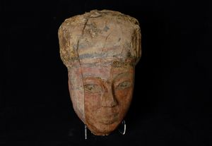 Wooden Head from Amarna