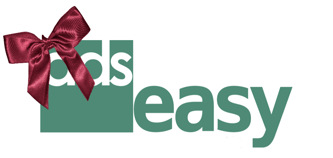 An image of the ADS easy logo with decorative bow in top left corner.