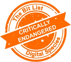 The Bit List's 'Critically endangered' stamp
