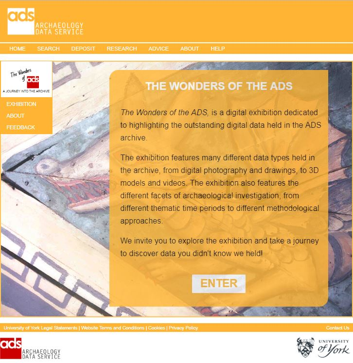 Screen shot of the Wonders of the ADS gallery entry page