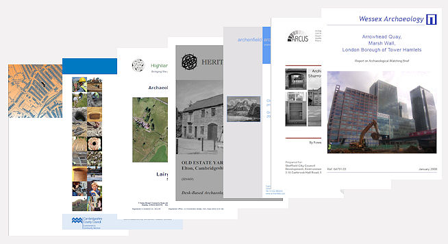 A selection of front covers of reports from the ADS grey literature library.