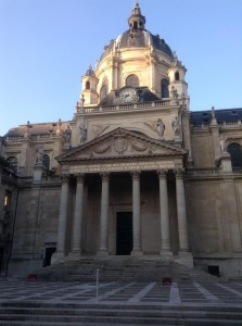 Interior courtyard, Sorbonne. Note the time - they liked to start early!