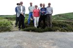Team members show the Europa Nostra representatives around the moor, July 2013. Image credit: Colin Beecham.