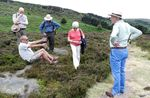 'This big!' Volunteers show the Europa Nostra representatives around the moor, July 2013. Image credit: Colin Beecham