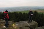 Measuring up at Rivock Edge, March 2012. Image credit:  Richard Stroud.