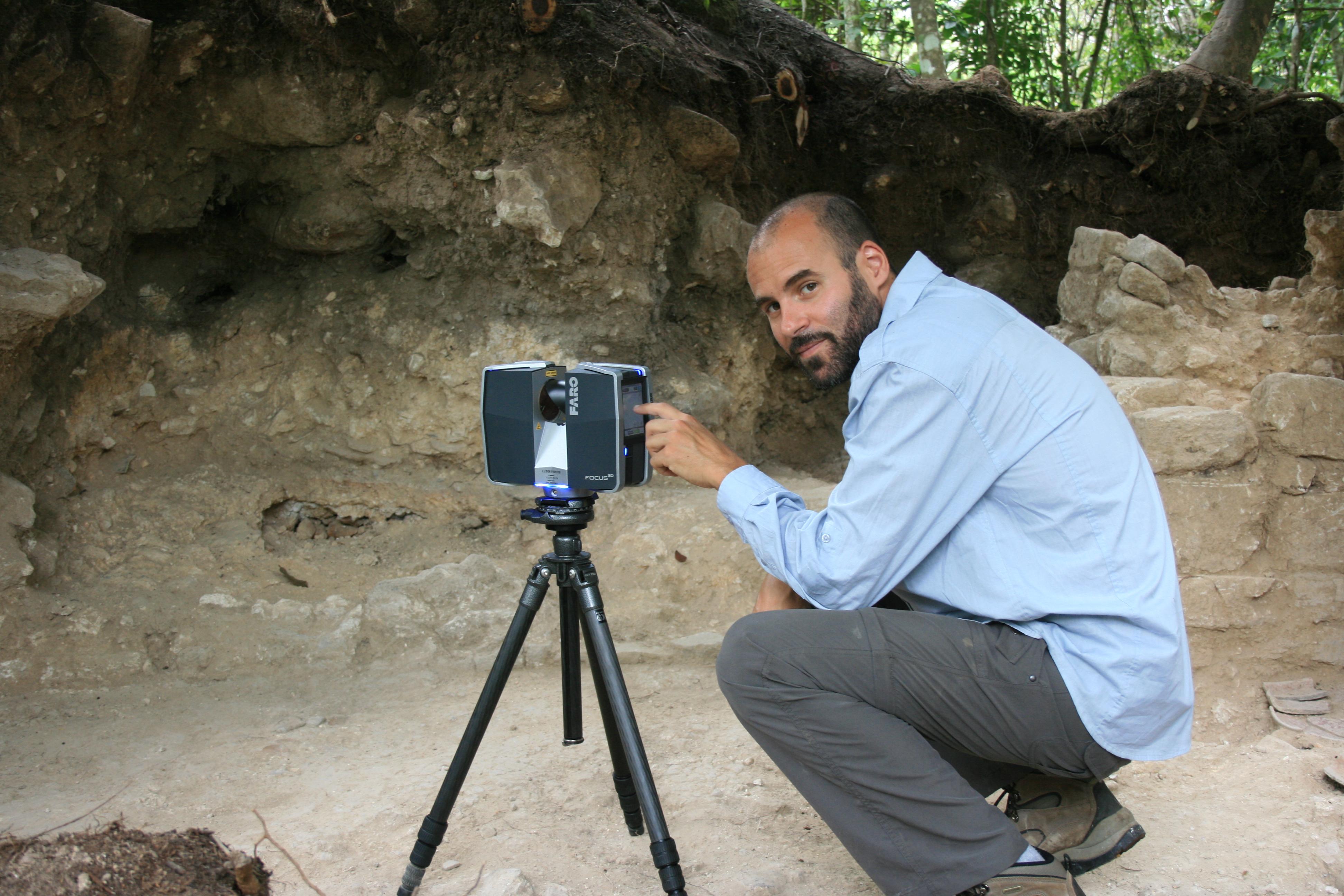 Fabrizio 3D laser scanning in Belize