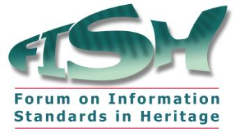 Figure 7: The logo for the Forum on Information Standards in Heritage.