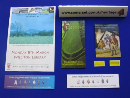 Figure 60: Some of the publicity material produced for the HER Outreach Programme.
